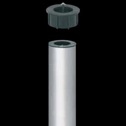 Bodenhülse aus Aluminium mit Zentrierkeil
