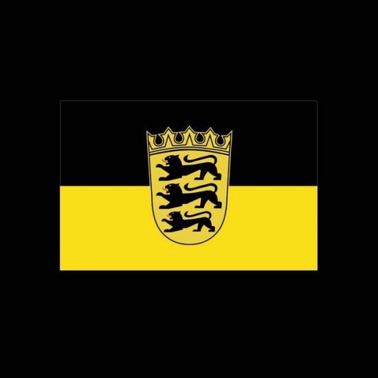 Flagge Bundesländer Querformat-Baden-Württemberg mit Wappen-150 x 250 cm-160 g/m²