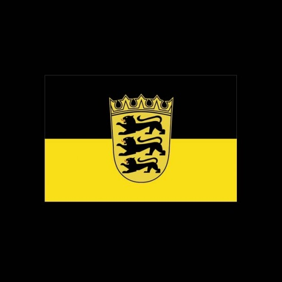 Flagge Hochformat-Baden-Württemberg-400 x 150 cm-160 g/m²-ohne Hohlsaum