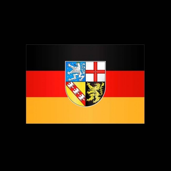 Flagge Hochformat-Saarland-400 x 150 cm-110 g/m²-ohne Hohlsaum
