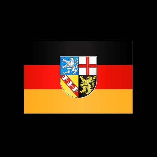 Flagge Hochformat-Saarland-400 x 150 cm-110 g/m²-mit Hohlsaum für Ausleger