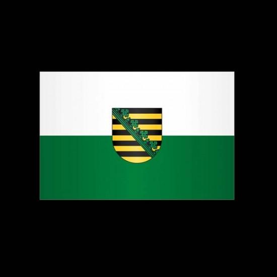 Flagge Hochformat-Sachsen-200 x 80 cm-110 g/m²-ohne Hohlsaum