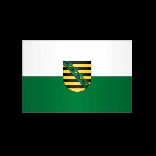 Flagge Hochformat-Sachsen-300 x 120 cm-160 g/m²-ohne Hohlsaum