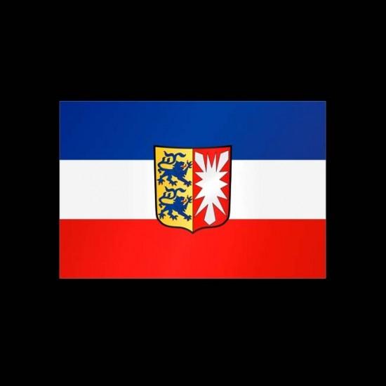 Flagge Hochformat-Schleswig-Holstein-600 x 150 cm-110 g/m²-mit Hohlsaum für Ausleger