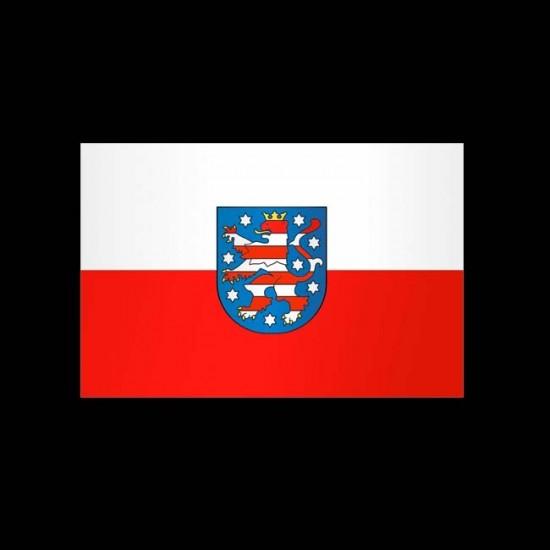 Flagge Hochformat-Thüringen-500 x 150 cm-160 g/m²-mit Hohlsaum für Ausleger