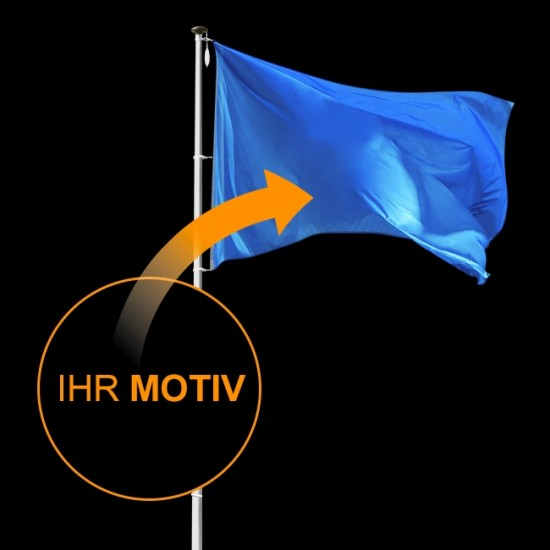 Flagge individuell nach Wunsch, Querformat-200 x 335 cm-110 g/m²