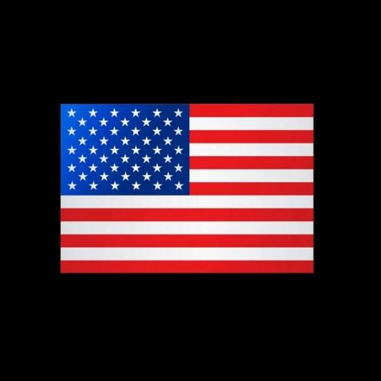 Flagge Weltweit, Hochformat-Vereinigte Staaten (USA)-200 x 80 cm-110 g/m²-mit Hohlsaum für Ausleger