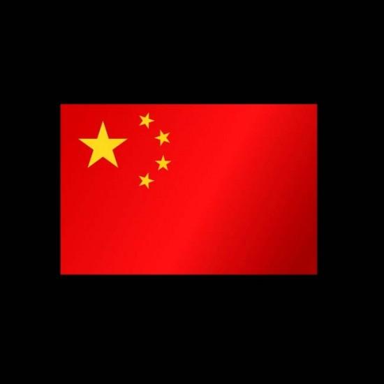 Flagge Weltweit, Hochformat-Volksrepublik China-400 x 150 cm-160 g/m²-ohne Hohlsaum