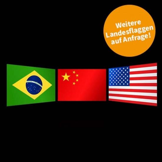 Flagge Weltweit, Querformat-Weiteres Land-150 x 250 cm-110 g/m²
