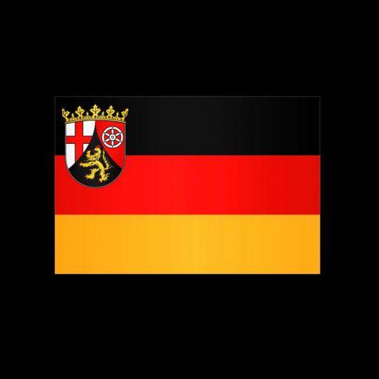 Flagge Hochformat-Rheinland-Pfalz-500 x 150 cm-160 g/m²-mit Hohlsaumfür Ausleger