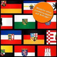Flaggen Komplett-Set Deutschland Bundesländer, Hochformat