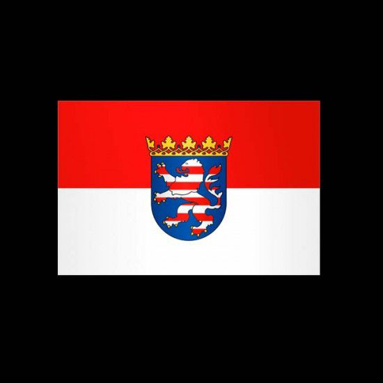 Flagge Hochformat-Hessen-200 x 80 cm-160 g/m²-ohne Hohlsaum