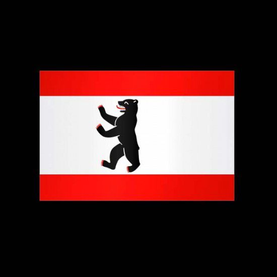 Flagge Hochformat-Berlin-400 x 150 cm-160 g/m²-mit Hohlsaum für Ausleger