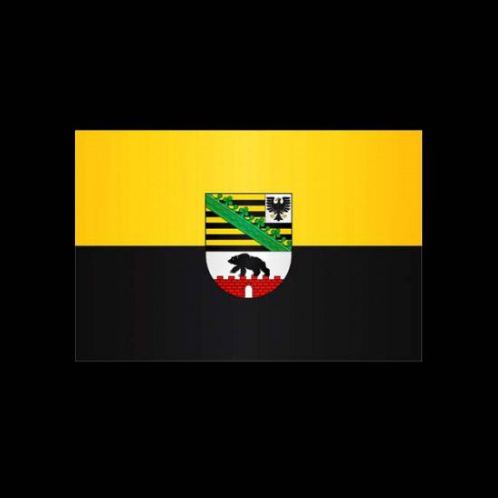 Flagge Hochformat-Sachsen-Anhalt-300 x 120 cm-160 g/m²-ohne Hohlsaum