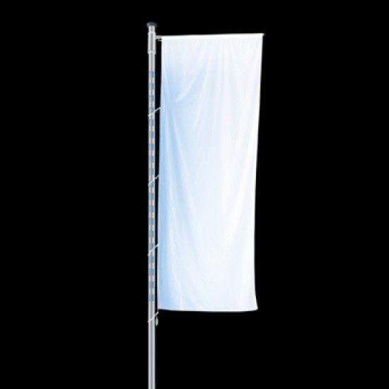 Fahnenmast Eyecatcher, mit integriertem LED-Lichtmodul, mit Ausleger
