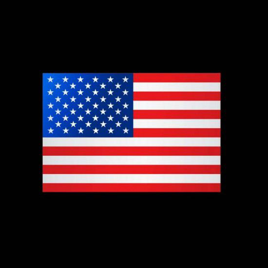 Flagge Weltweit, Hochformat-Vereingte Staaten (USA)-200 x 80 cm-160 g/m²-mit Hohlsaum für Ausleger