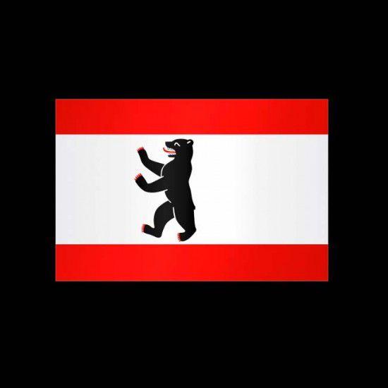 Flagge Hochformat-Berlin-200 x 80 cm-110 g/m²-mit Hohlsaum für Ausleger