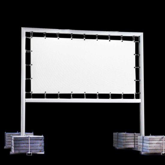 Transparentanlage -Brilliant- aus Aluminium, mobil