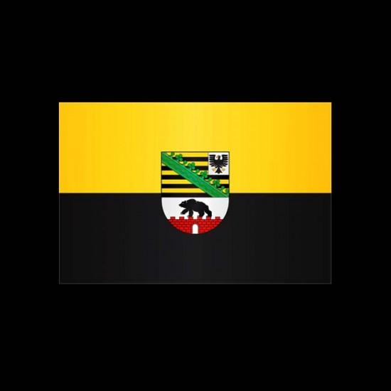 Flagge Hochformat-Sachsen-Anhalt-200 x 80 cm-160 g/m²-mit Hohlsaum für Ausleger