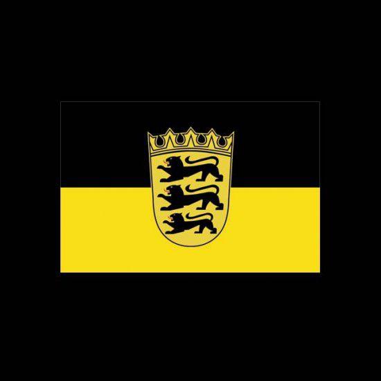 Flagge Bundesländer Querformat-Baden-Württemberg mit Wappen-120 x 200 cm-160 g/m²
