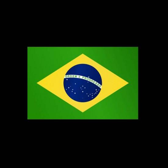 Flagge Weltweit, Hochformat-Brasilien-400 x 150 cm-110 g/m²-mit Hohlsaum für Ausleger