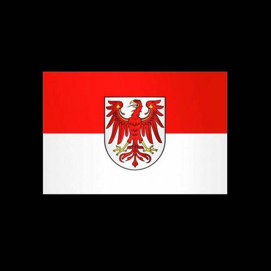 Flagge Deutschland, Hochformat-Brandenburg-300 x 120 cm-160 g/m²-mit Hohlsaum für Ausleger