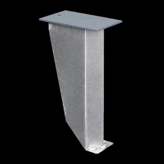 Bodenhalterung U aus Aluminium, für Mastdurchmesser 60 - 150 mm