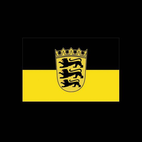 Flagge Bundesländer Querformat-Baden-Württemberg mit Wappen-60 x 90 cm-110 g/m²