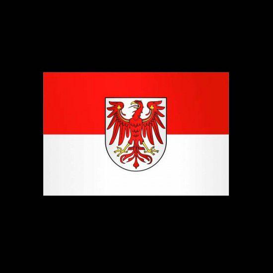 Flagge Hochformat-Brandenburg-200 x 80 cm-160 g/m²-mit Hohlsaum für Ausleger