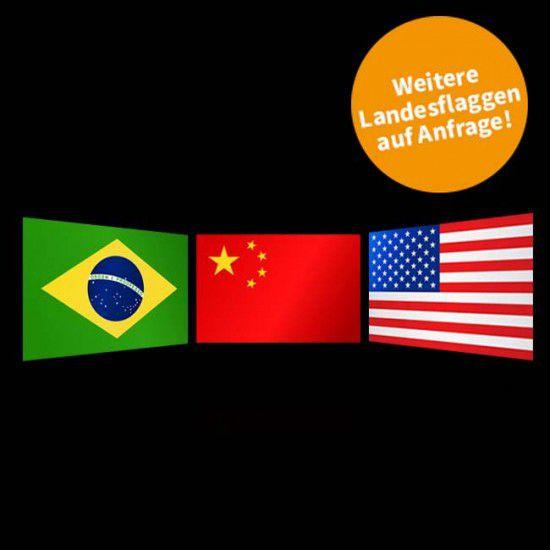 Flagge Weltweit, Querformat-Weiteres Land-150 x 250 cm-160 g/m²