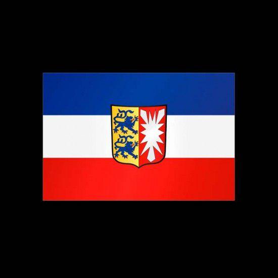 Flagge Hochformat-Schleswig-Holstein-200 x 80 cm-110 g/m²-mit Hohlsaum für Ausleger