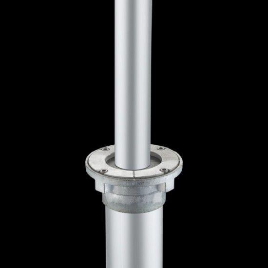 Bodenhalterung ME aus Aluminium, für Mastdurchmesser 100 mm