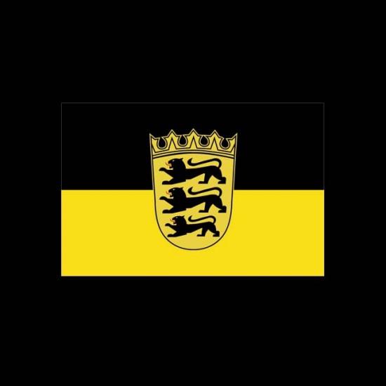 Flagge Hochformat-Baden-Württemberg-600 x 200 cm-110 g/m²-mit Hohlsaum für Ausleger