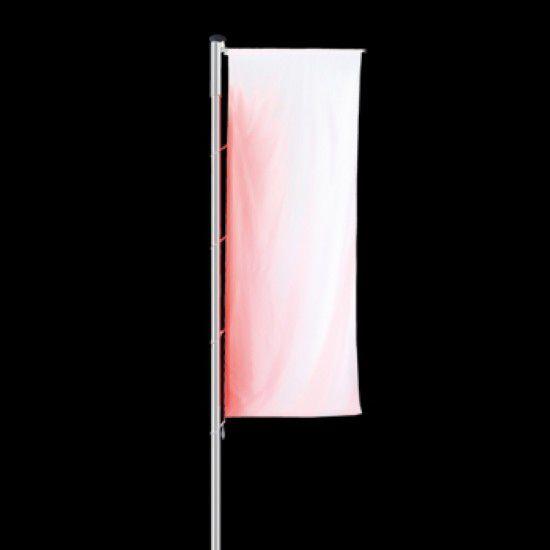 Fahnenmast Colourful, mit integriertem LED-Lichtband, mit Ausleger