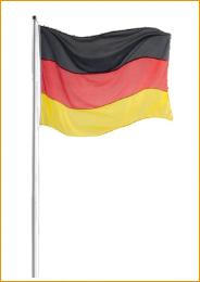 Fahne im Querformat