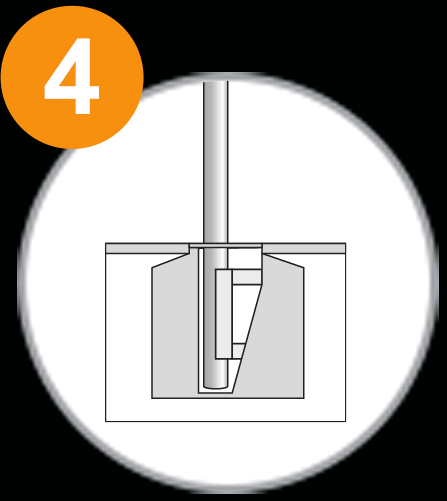 Fahnenmast 1x1 - Schritt 4.