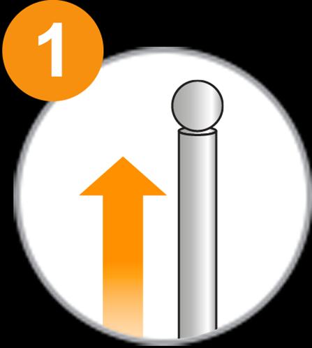 Fahnenmast 1x1 - Schritt 1.