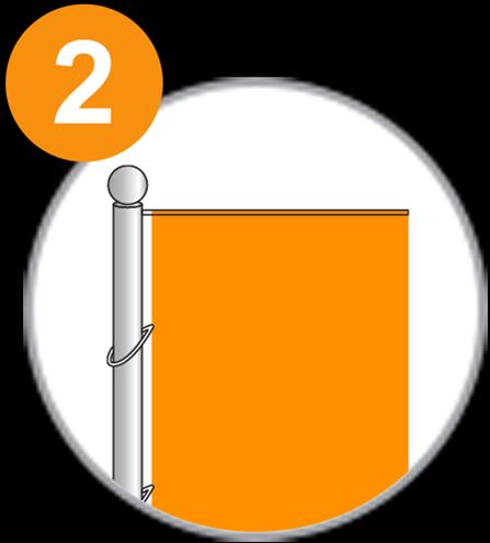 Fahnenmast 1x1 - Schritt 2.
