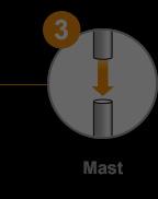 Auswahl Mastsegment, Fahnenmast einteilig oder zweiteilig
